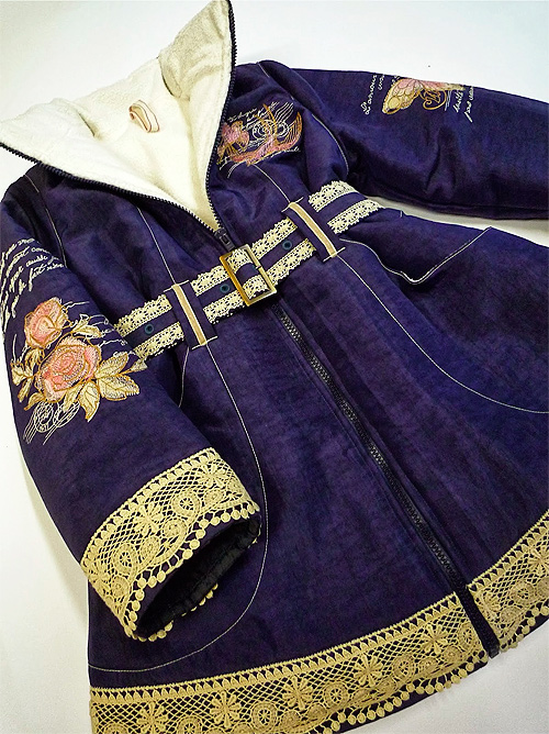 Einen Mantel für Mädchen nach dem Schnittmuster POLYANNA von farbenmix selber nähen