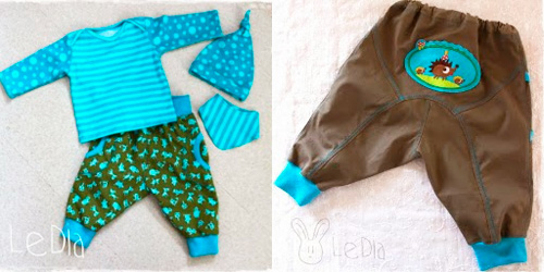 Babykombi für Jungs nach dem Schnittmuster Zwergenverpackung Vol.I + II von farbenmix