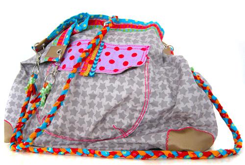 Pernille-Tasche aus beschichtetem Stoff, Strandtasche