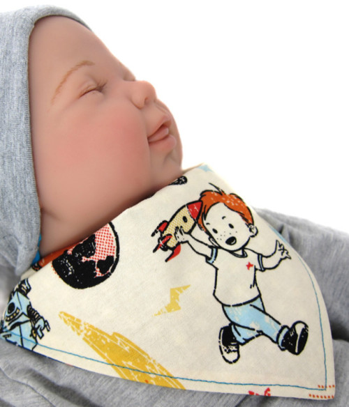 Anleitung Halstuch Baby farbenmix