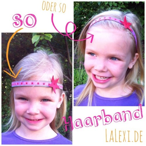 Bastelanleitung Haarband farbenmix Blog