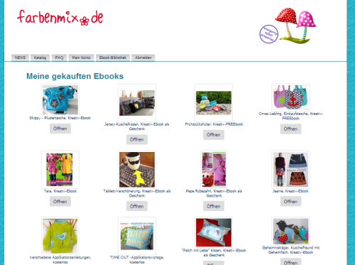 Ebook Bibliothek farbenmix