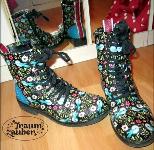 Schuhe mit ModPodge und Stoff neuen Look verpassen