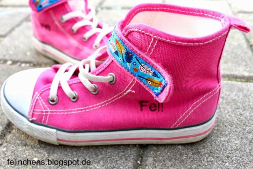 Schuhe aufpeppen mit Webband