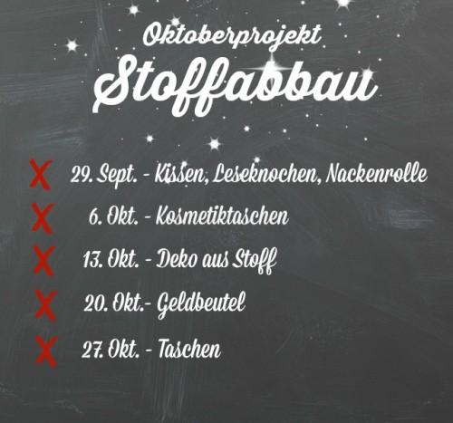 Oktoberprojekt Stoffabbau 2014