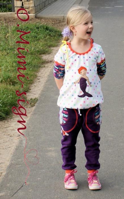 Kindersachen selber nähen Shirt und Hose