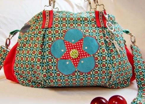 Kugeltasche farbenmix Taschenspieler2 Tasche nähen