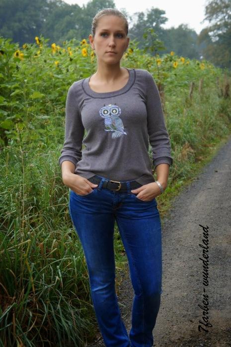 Shirt selber nähen Damen farbenmix Blog