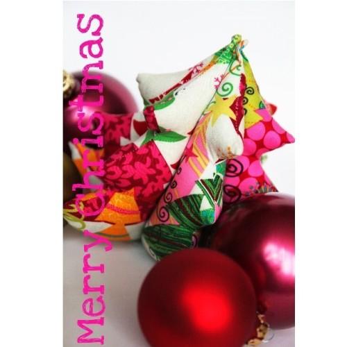 Weihnachtsbäumchen Deko selber nähen farbenmix kostenlose Anleitung