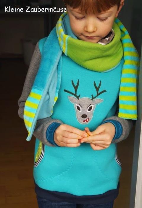Nähen für Jungs Schnittmuster Pulli farbenmix Fotoanleitung