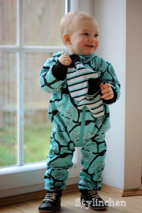 Overall Tommi Babysachen selber nähen Anfänger Schnittmuster farbenmix