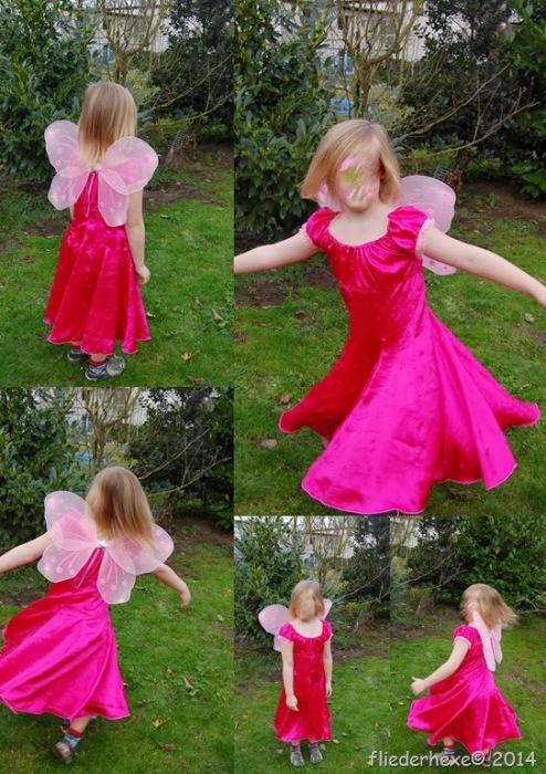Tinkerbell Kostüm Prinzessin Kleid selber nähen Schnittmuster farbenmix