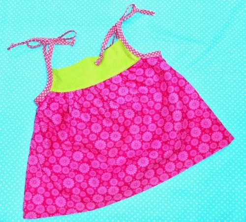 Kleidchen Zwergenverpackung farbenmix nähen