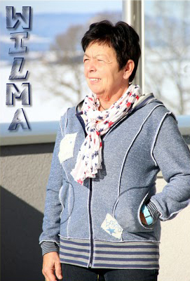 Wilma Damen Sweatjacke Schnitt selber nähen Anleitung farbenmix