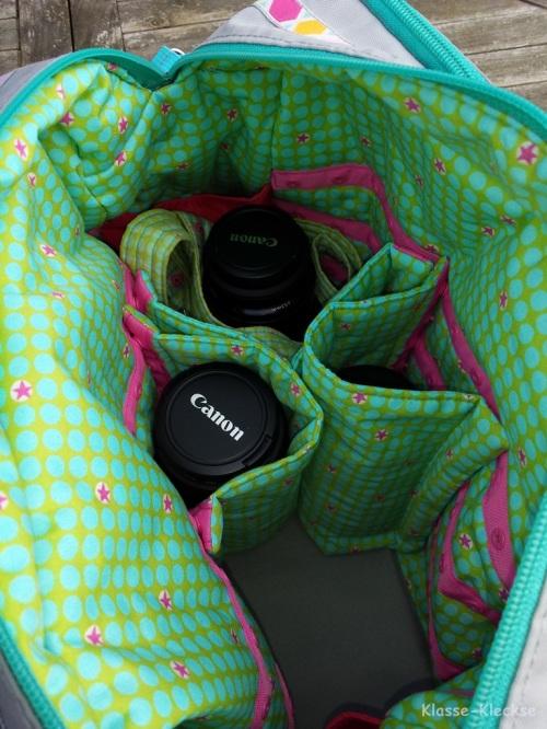 Alleskönner als Kameratasche Tasche Spiegelreflex selber nähen Schnittmuster farbenmix