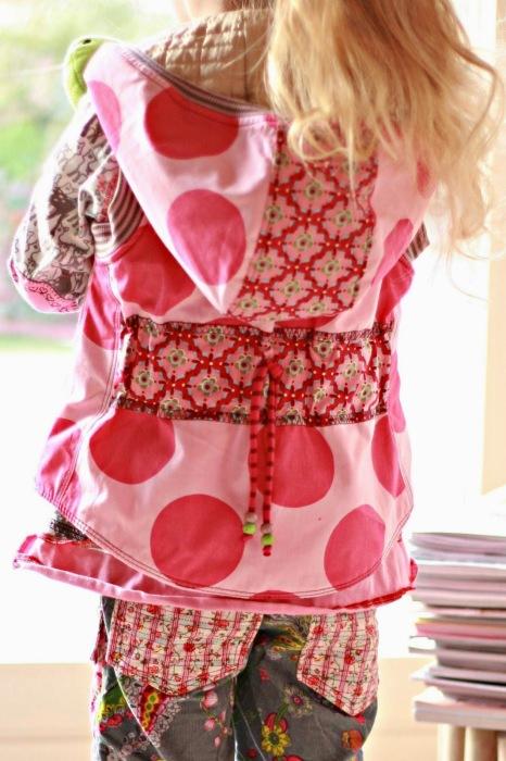 Kombi selbst genäht bunt Kinderkleidung farbenmix