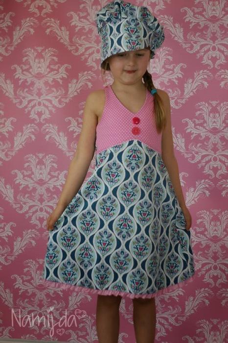 La Playita Sommerkleid Mädchen selbst nähen LilaLotta Stoff