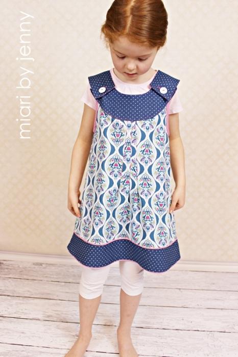 LilaLotta Stoff farbenmix Schnittmuster Oda Kleid Hängerchen selbst nähen