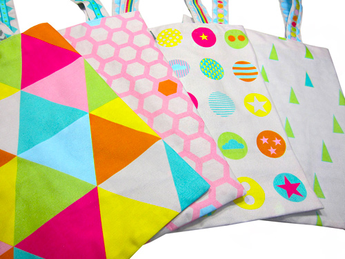 Bags to love: Geometric farbenmix Designstoff