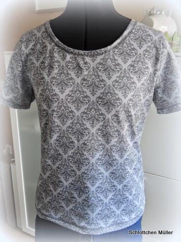 Antonella Mixshirt schlicht aus Lovekeys Jersey farbenmix