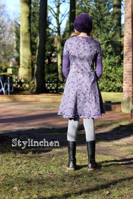 Kiara Teens Teenie nähen farbenmix Kleid Basic Schnittmuster Stylinchen