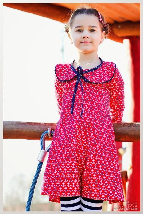 Kiara farbenmix Kleid Basic Schnittmuster Laujosa