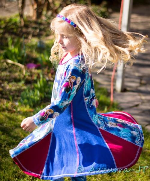 Kiara mit Keilen Drehkleid farbenmix Jersey