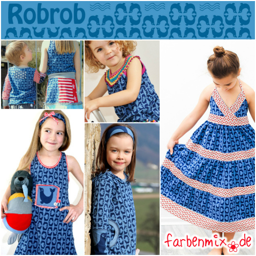 Robrob farbenmix Stoff Jersey Collage Collage