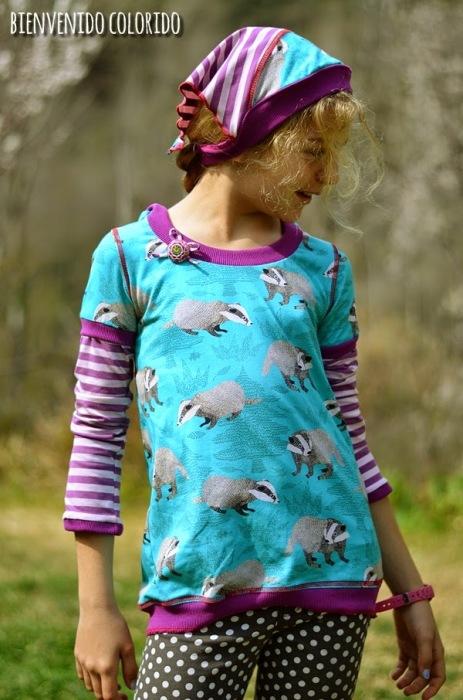 Rosita Mädchenshirt farbenmix Shirt nähen