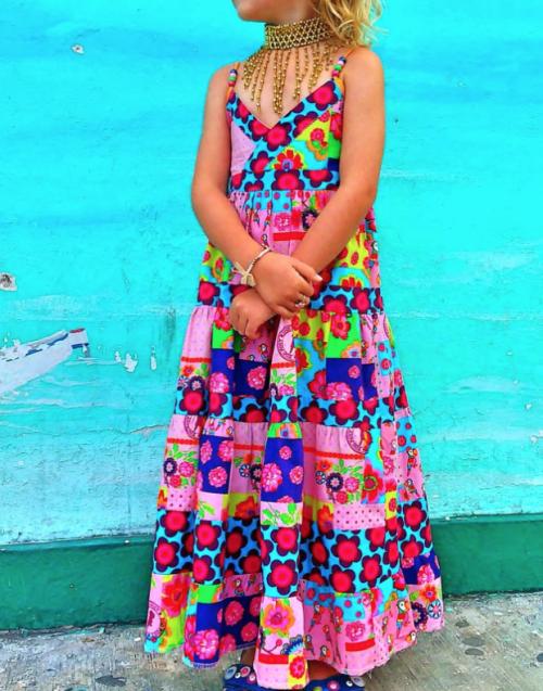 Sommerkleid Lorelei Jolijou farbenmix nähen