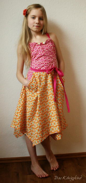 Sommerkleid NewPort Königskind farbenmix Nähen