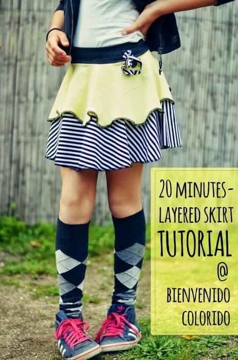layered skirt tutorial Rock im Lagenlook Anleitung Rock doppellagig