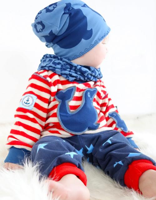 Kuschelbasics farbenmix Robbenstoff Babykleidung selber nähen