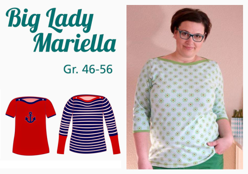 Big Lady Mariella farbenmix Mialuna Papierschnittmuster