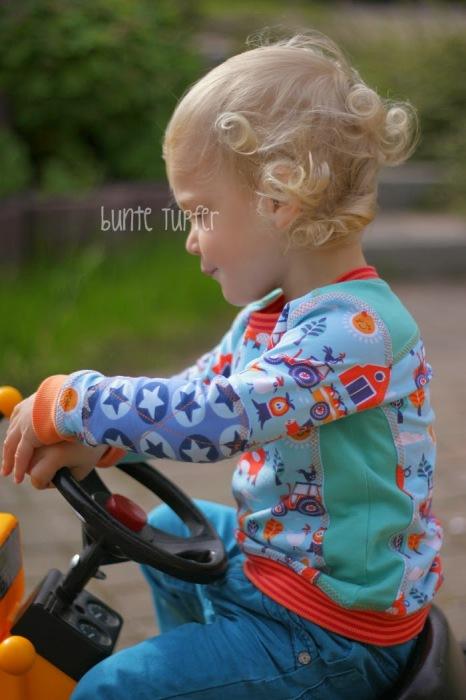Hilde Shirt für Jungs nähen Traktor Shirt