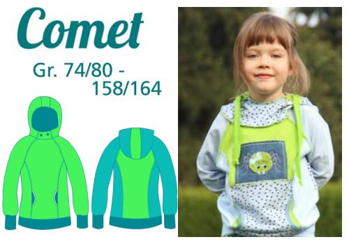 Kinder Comet farbenmix Mialuna Papierschnittmuster