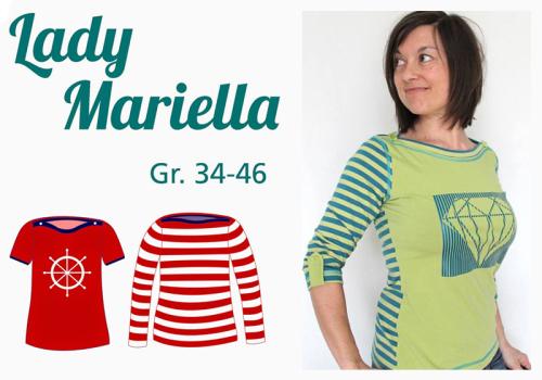Lady Mariella farbenmix Mialuna Papierschnittmuster