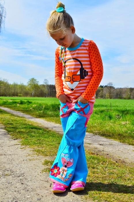 Selbstgenähte Kombi bunt nähen für Kinder Stickdateien und Plotter