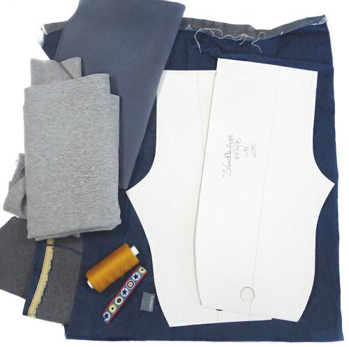Jeansstoff zuschneiden, Jeans für Babys und Kleinkinder