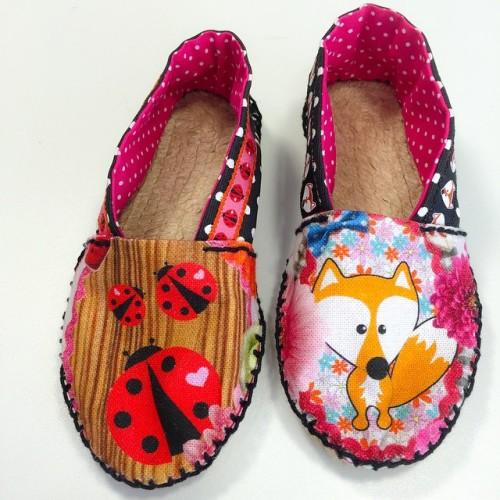 farbenmix Espadrilles Wettbewerb Schuhe selber machen nähen