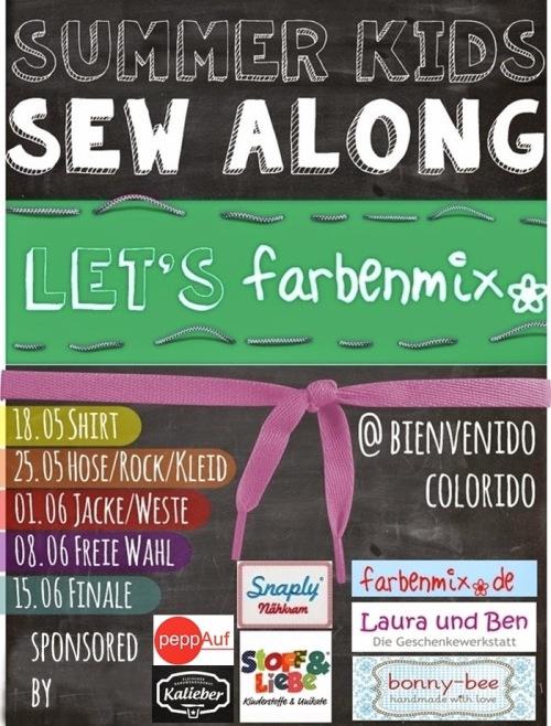 farbenmix SewAlong bienvenido colorido Let's farbenmix