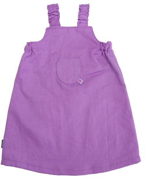 Kleid aus Leinen für Mädchen, Sommerleinen, einfacher Schnitt zum selber nähen