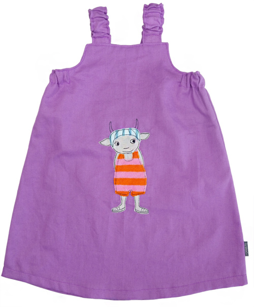 Leinenkleid, Naturmode für Kinder selber nähen mit einer einfachen Nähmaschine