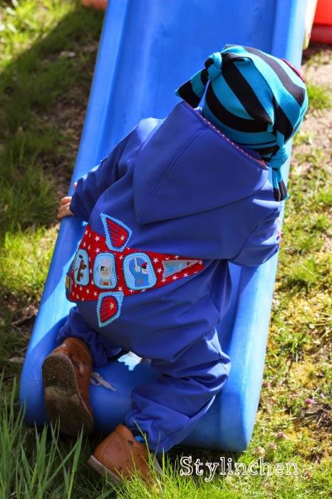 softshell Outdoor Anzug nähen Schnittmuster farbenmix
