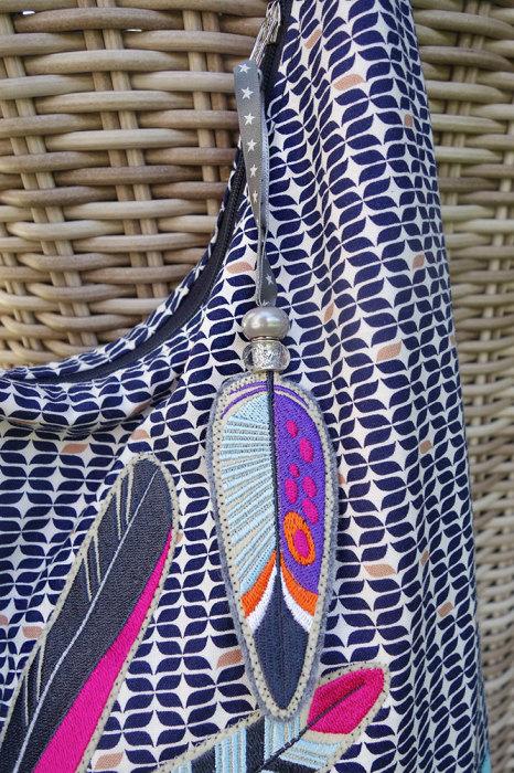 Anhänger und Taschenanhänger nähen aus Filz, mit Perlen als Zipperanhänger