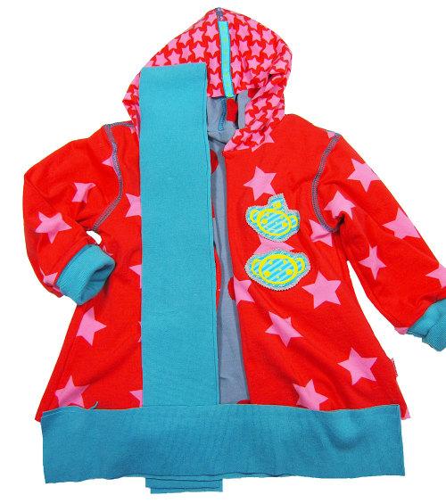 Bündchenstreifen für eine Jacke zuschneiden, Jacke mit Bündchen einfassen