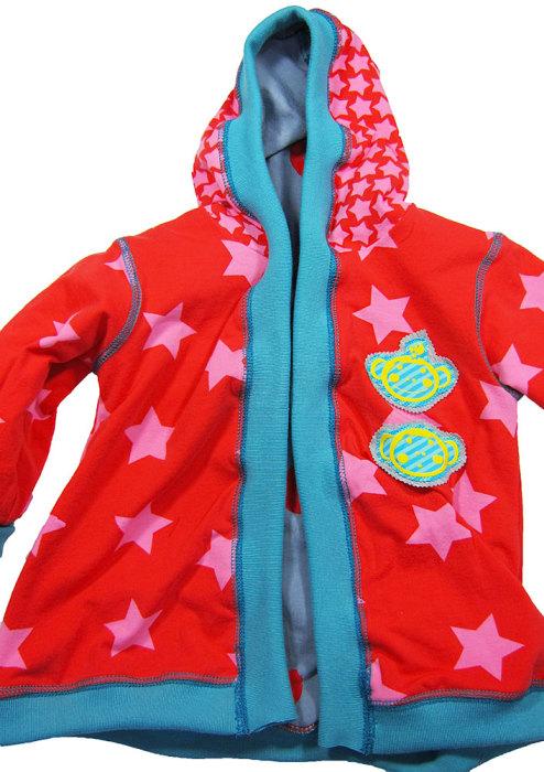 Bündchenstreifen an eine Jacke für Kinder nähen