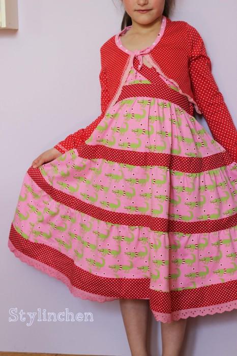 Lorelei aus Jersey nähen, leichtes Sommerkleid mit Volants, Schnittmuster