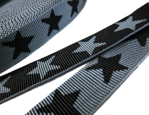 farbenmix-kunterbuntdesign-staaars-gurtband-grey-black-schwarz-grau-sterne-stars