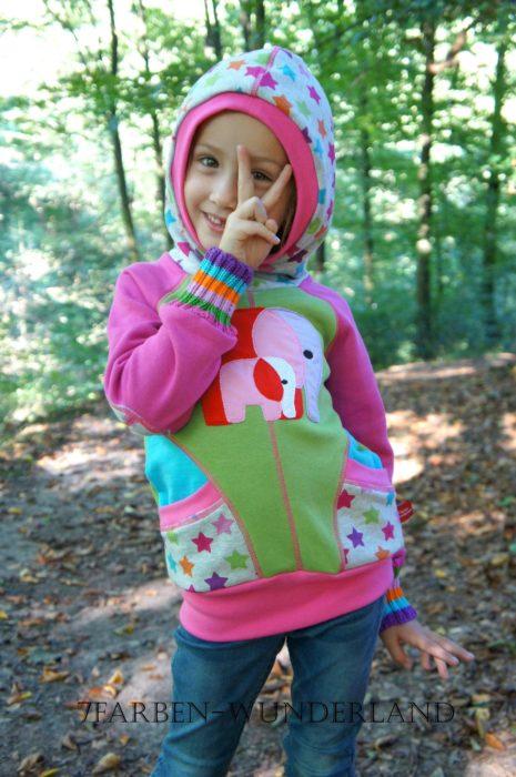 pablita-hoodie-Sweatshirt Ebook Raglanjacke von bienvenido colorido - farbenmix.de